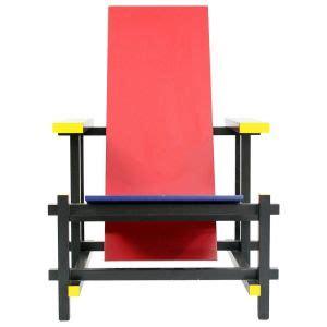 la chaise et bleu de gerrit rietveld chaise et bleue