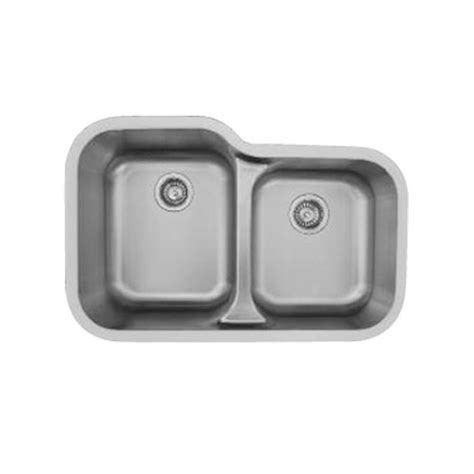 karran sink edge e360r stainless steel sink double bowl