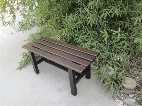 small weight garden furniture aluminum bench