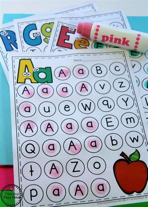 letter worksheets planning playtime 453 | Letter Worksheets for Preschool or Kindergarten.
