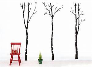 vinyl birch tree wall decals forest nature removable vinyl With kitchen cabinets lowes with vinyl birch tree wall art