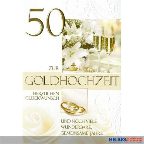 glückwunschkarten zur goldenen hochzeit gl 252 ckwunschkarte goldene hochzeit quot 50 quot 72h1112