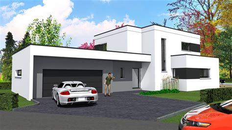 photo maison contemporaine toit plat palzon