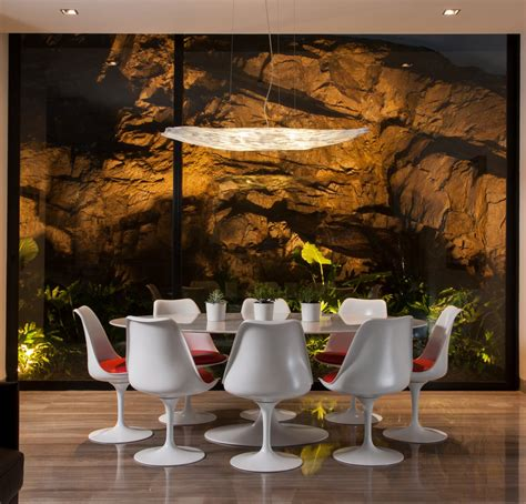 chaise tulipe knoll white dining table lighting rock stylish