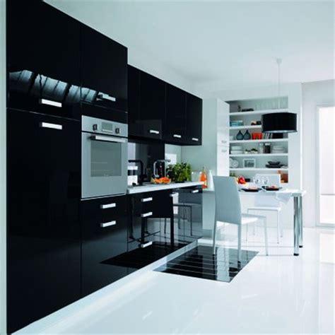 vaisselier cuisine meuble de cuisine noir laque