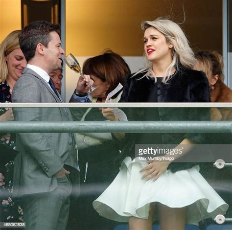 Declan Donnelly and Ashley Roberts watch the racing as ...