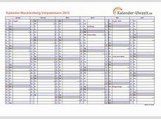 Feiertage 2015 MeckPomm + Kalender