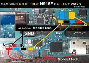 Samsung Galaxy Note4 Edge N915f Battery Connector Ways
