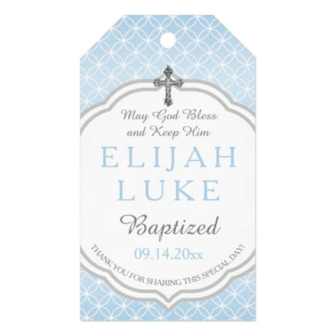 Baptism Boy Eternity Rings Vintage Cross Gift Tags