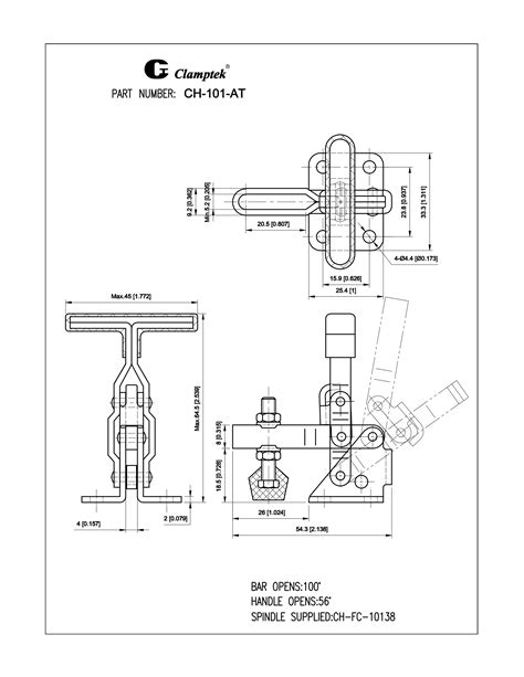 CH-101-A Series | Vertical Toggle Clamps | Clamptek