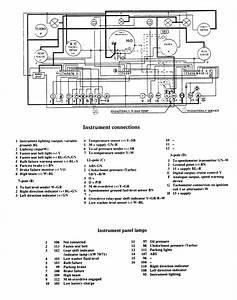 Volvo 740  1988 - 1989  - Wiring Diagrams - Instrumentation