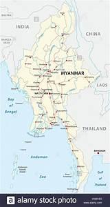 Map Of Myanmar Stock Photos  U0026 Map Of Myanmar Stock Images