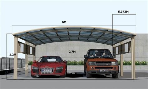 luxury  cars carport  double cars  posts version