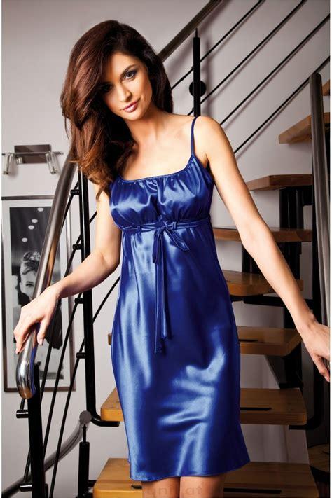 satin nightdress satijn satin blue satin and