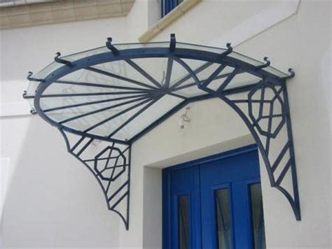 marquise auvent en fer forg marquise wrought iron canopy marquise schmiedeeisernen baldachin