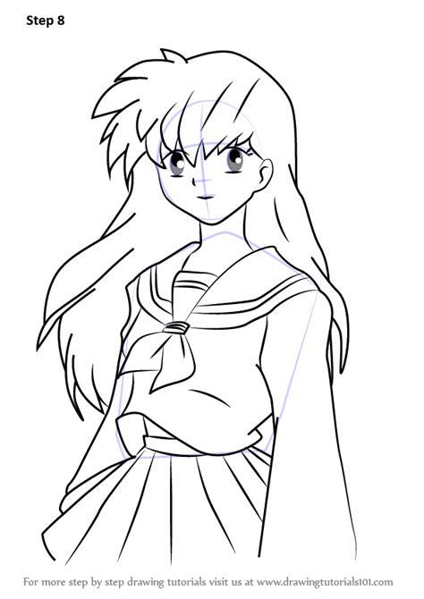 learn   draw kagome higurashi  inuyasha inuyasha