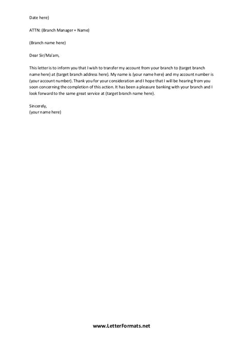 request letter close bank account