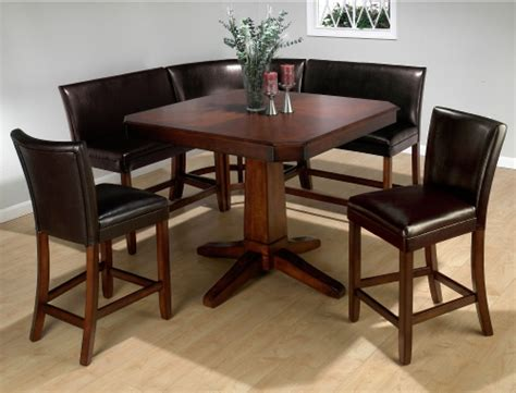 Jofran Chadwick Counter Height Table With Corner Bench And