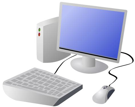 bureau virtue domain clip image illustration of a computer