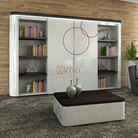choix de couleur pour cuisine meuble tv living bibliothèque laque bicolore portes