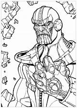 Thanos Coloring Infinity Pages Gauntlet Printable Marvel Line Drawing Cute Boys Avengers War Drawings Print Super Deviantart Fan Categories sketch template