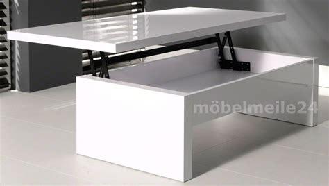 Wohnzimmertisch Höhenverstellbar Weiß by Moderner Couchtisch Wei 223 Hochglanz H 246 Henverstellbar 120x60