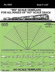 Template only ho scale ctt5000 ctt model railroad for Model railroad track templates