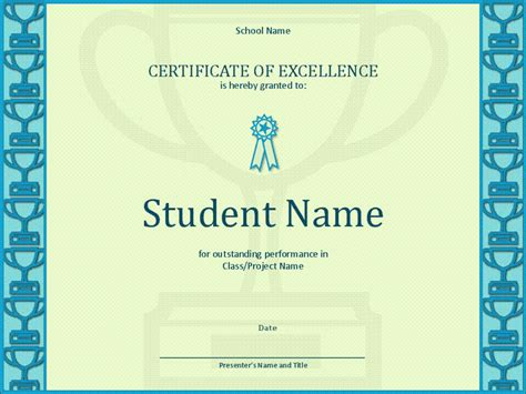 Powerpoint Excellence Award Template Gallery Powerpoint
