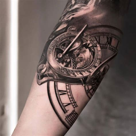 amazing clock tattoos  forearm