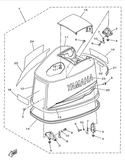 Yamaha Top Cowling Parts For Ctlrw Outboard