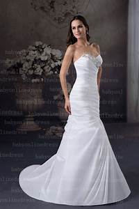 sexy sweetheart satin crystal white drop waist mermaid With sexy white wedding dresses