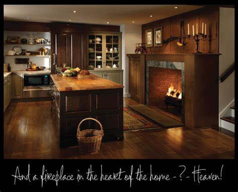 kitchen fireplace design ideas country kitchen fireplace design and photos 4762