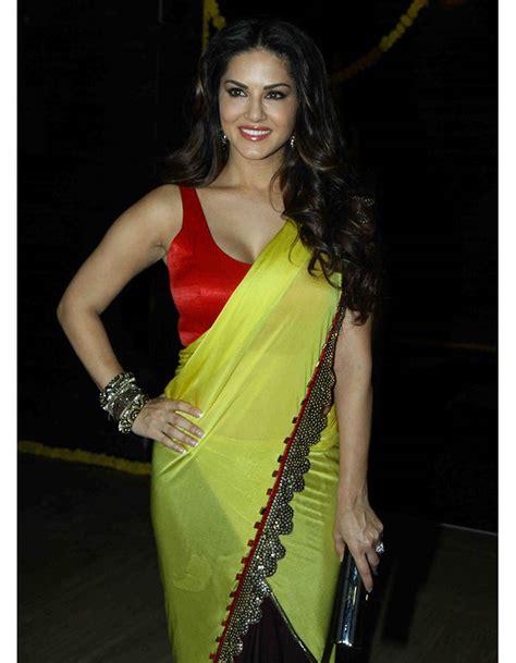 sunny leone  saree  indian bollywood actress