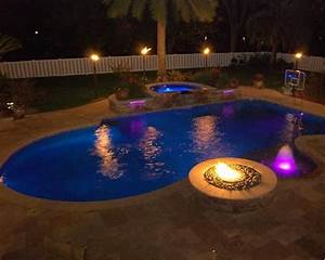 Swimming Pool With Fire Pit Ideas