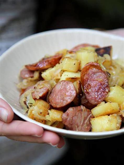 recette po 234 l 233 e aux pommes de terre et saucisse fum 233 e