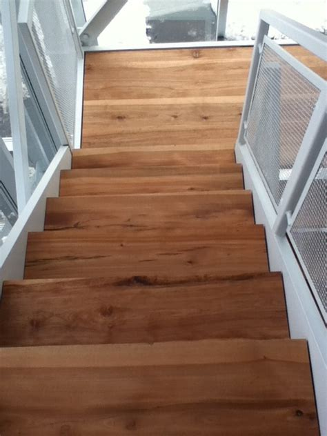 stair treads wood flooring solid wood stairs live edge stair treads contemporary stair tread rugs toronto by tree