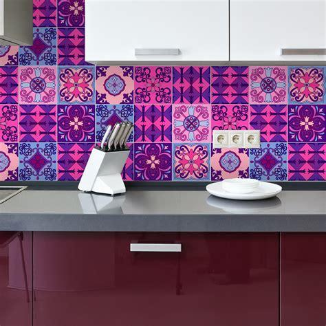 stickers carrelages azulejos violet byzantine stickers