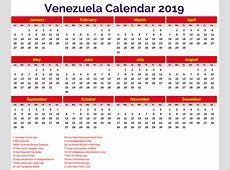 Venezuela 2019 Calendar printcalendarxyz