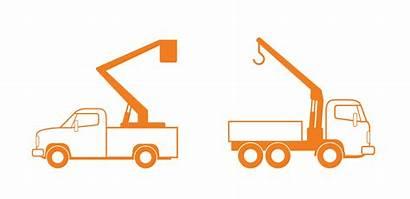 Truck Crane Clip Clipart Bucket Boom Construction