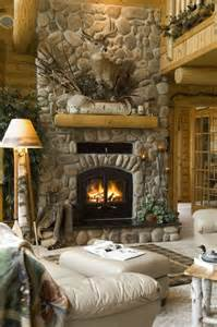 Log Home with Fireplace