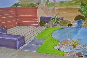 petit jardin avec piscine kirafes With jardin avec piscine design