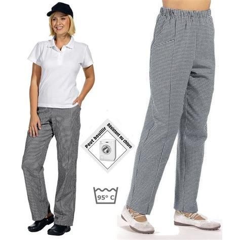 pantalon de cuisine femme homme ceinture 233 lastiqu 233 e