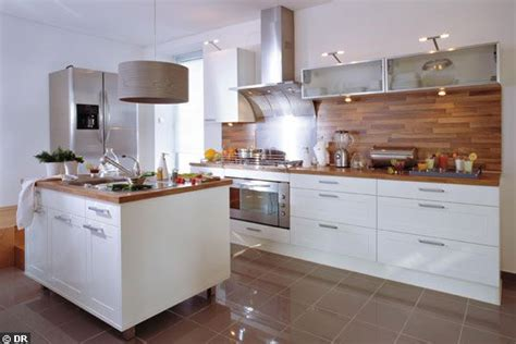 cuisine bois et blanc prix credence cuisine blanc et bois cr 233 dences cuisine