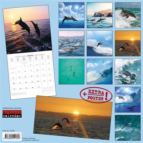 dolphins tushita sm wall calendar