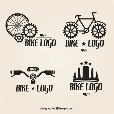 Modified Bike Logos by Bicycle Logos Set Vector Free