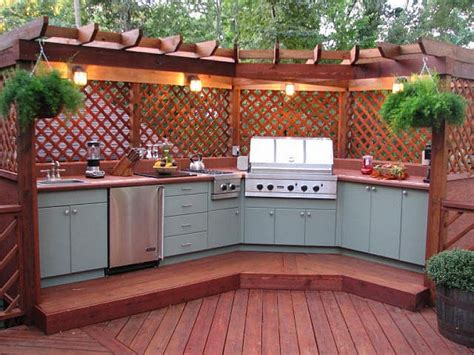 outdoor kitchen ideas  backyard entertaining diybunker
