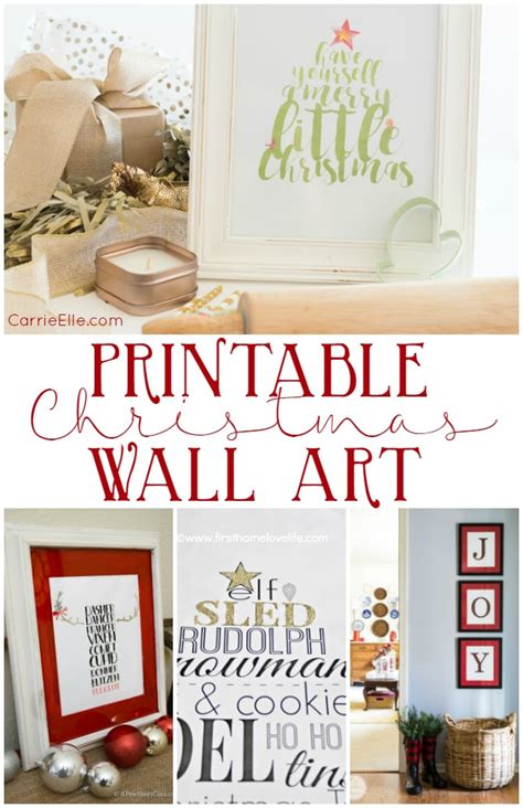Choose your favorite designs and purchase them as canvas prints, art prints, posters, framed prints, metal prints, and more! Printable Christmas Wall Art You're Going to Love! - Carrie Elle