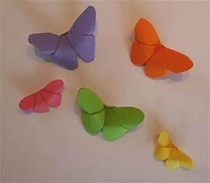 Origami Schmetterling Anleitung : schmetterling aus papier falten basteln rund ums jahr ~ Frokenaadalensverden.com Haus und Dekorationen