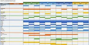 Free marketing plan templates for excel smartsheet for Campaign schedule template