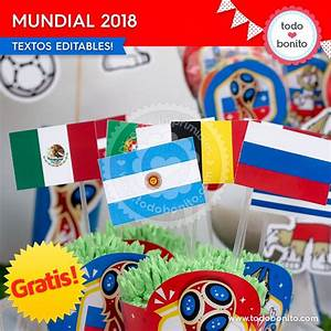 Kits imprimibles del Mundial Rusia 2018 gratis! Todo Bonito